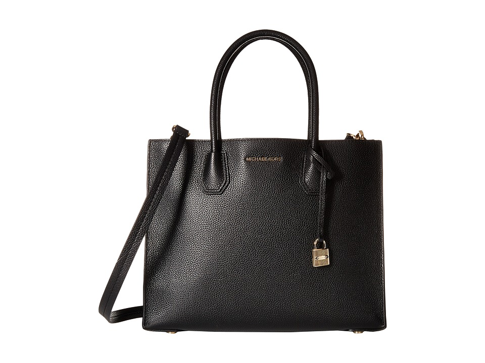 Michael Kors Mercer Large Convertible Tote (Black) Tote H...