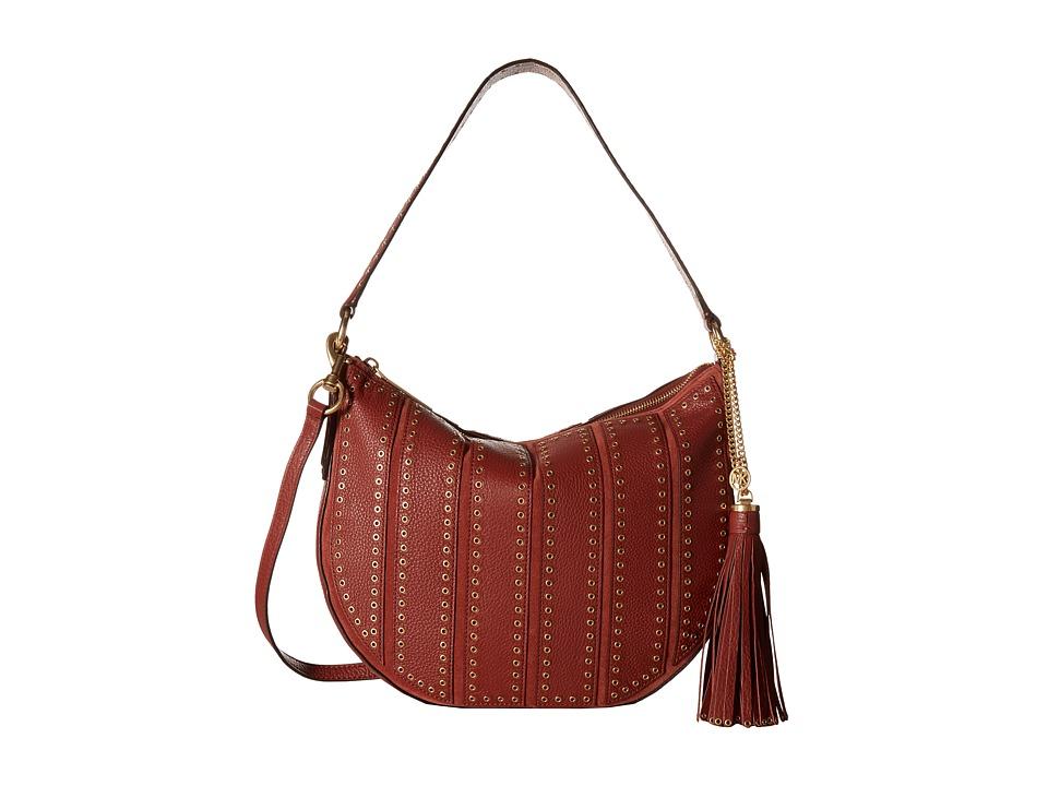 MICHAEL Michael Kors - Brooklyn Grommet Md Conv Hobo (Brick) Hobo Handbags