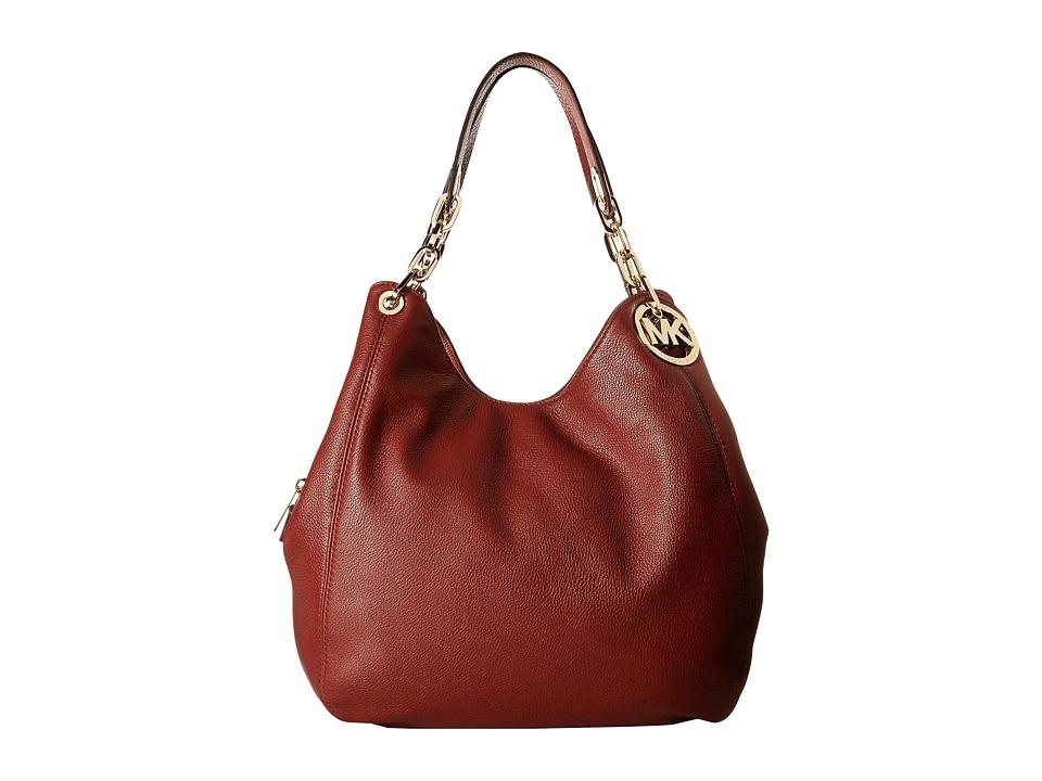 MICHAEL Michael Kors - Fulton Large Shoulder Tote (Brick) Handbags