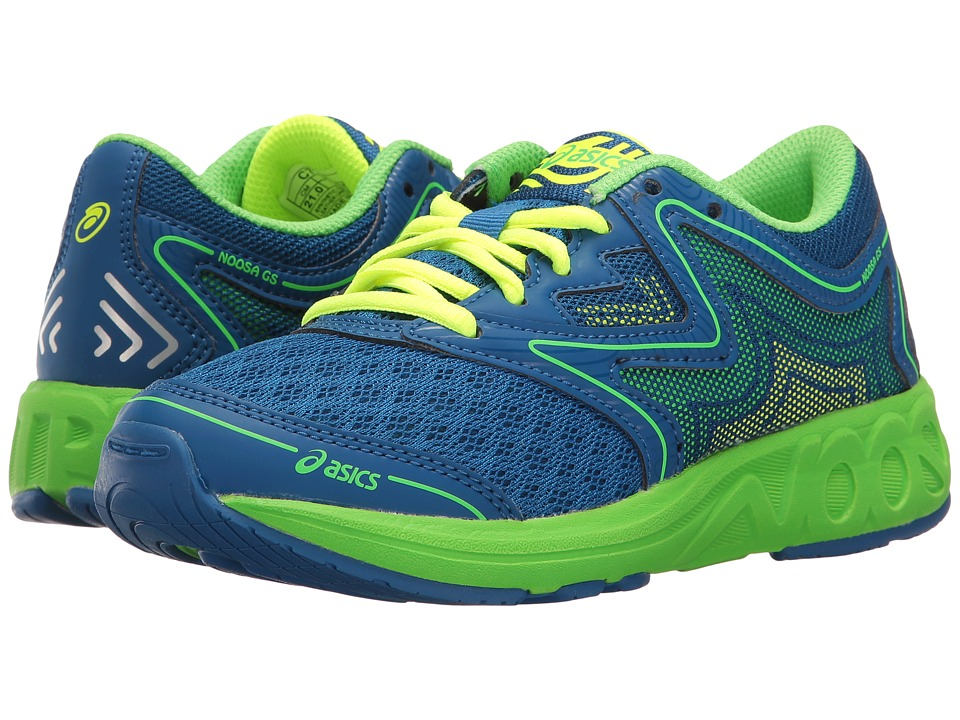 ASICS Kids Noosa GS (Little Kid/Big Kid) (Imperial/Green Gecko/Safety Yellow) Boys Shoes