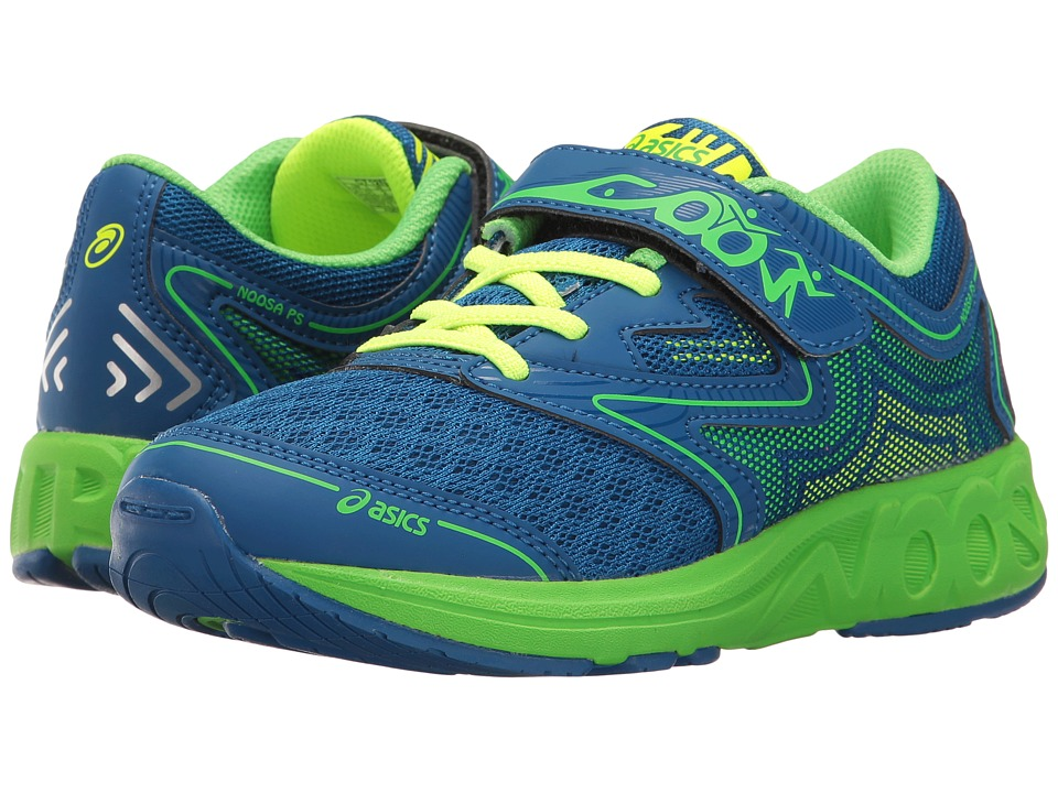 ASICS Kids Noosa PS (Toddler/Little Kid) (Imperial/Green Gecko/Safety Yellow) Boys Shoes
