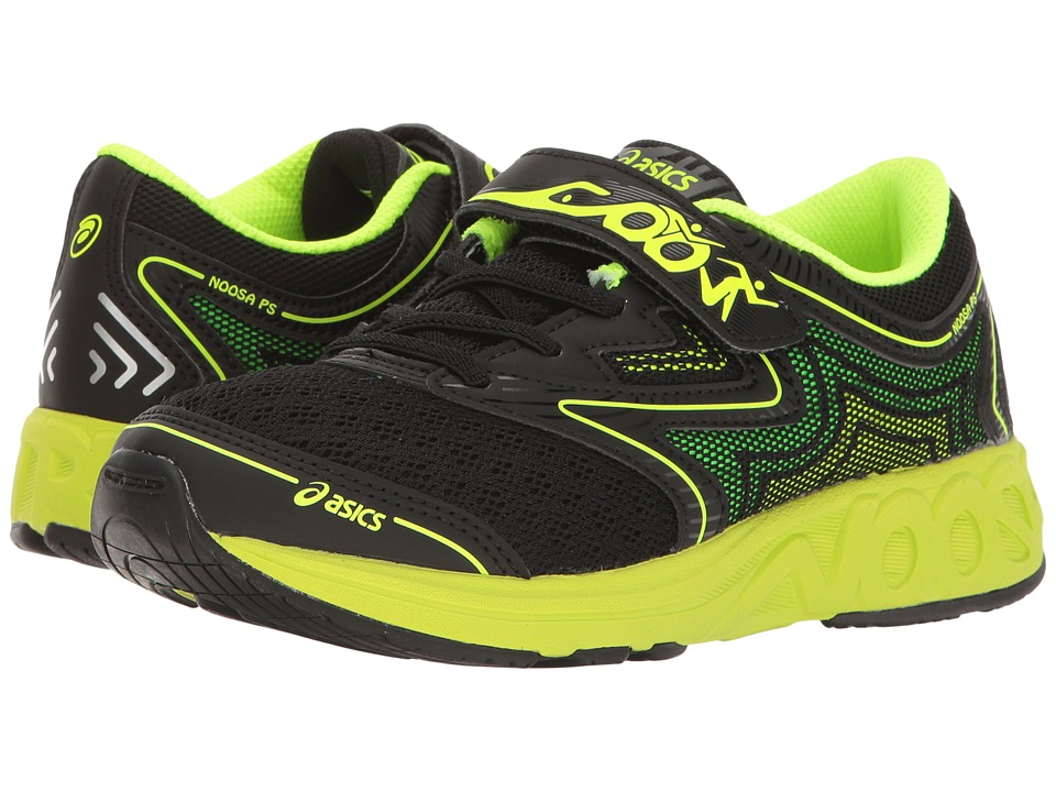 ASICS Kids Noosa PS (Toddler/Little Kid) (Black/Safety Yellow/Gecko Green) Boys Shoes