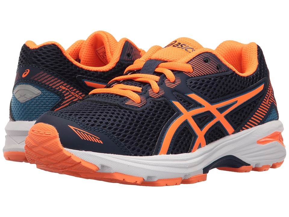 ASICS Kids GT-1000 5 GS (Little Kid/Big Kid) (Indigo Blue/Hot Orange/Thunder Blue) Boys Shoes