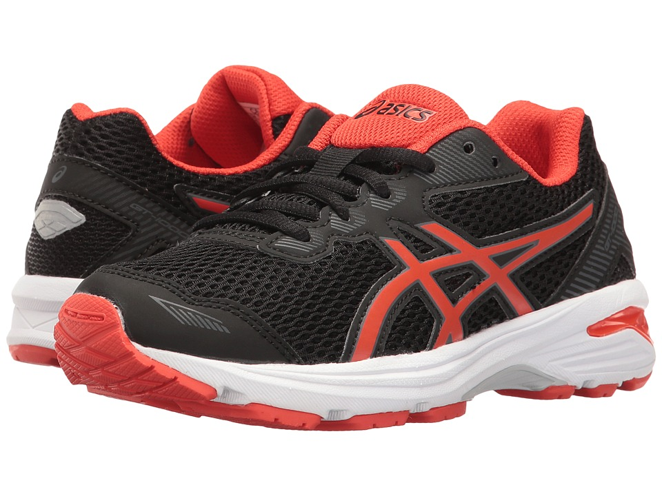 ASICS Kids GT-1000 5 GS (Little Kid/Big Kid) (Black/Vermillion/Carbon) Boys Shoes