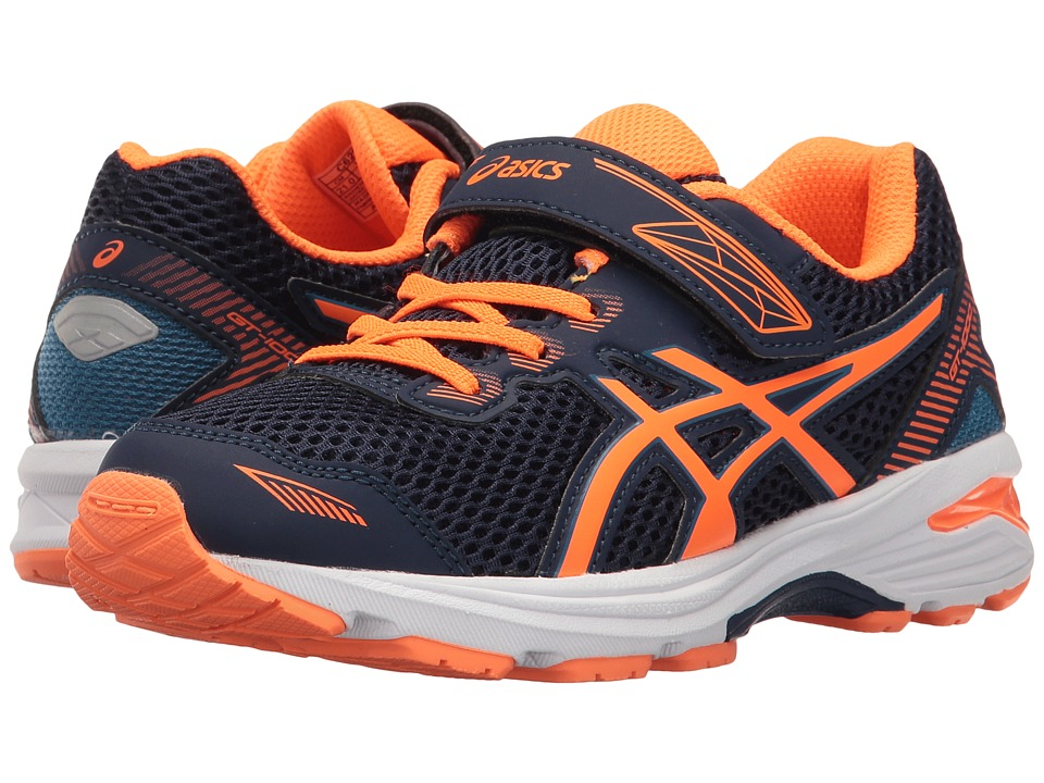 ASICS Kids GT-1000 5 PS (Toddler/Little Kid) (Indigo Blue/Hot Orange/Thunder Blue) Boys Shoes