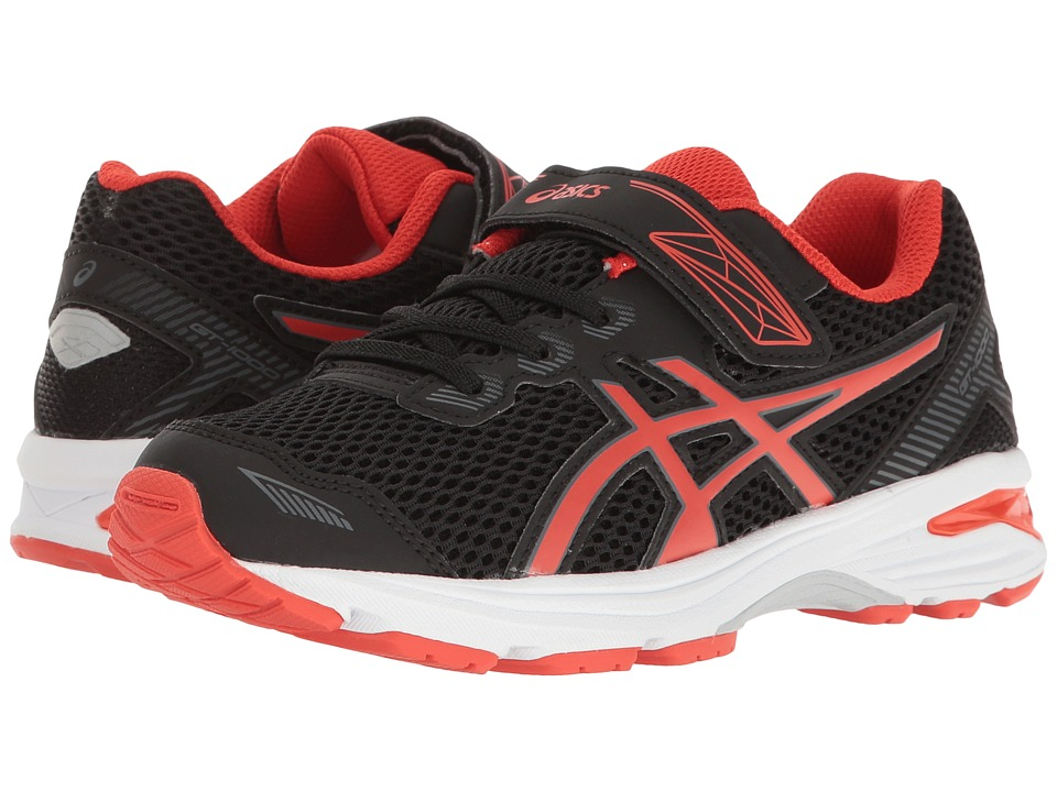 ASICS Kids GT-1000 5 PS (Toddler/Little Kid) (Black/Vermillion/Carbon) Boys Shoes