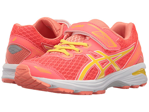 ASICS Kids GT-1000 5 PS (Toddler/Little Kid) - Diva Pink/Sun/Melon