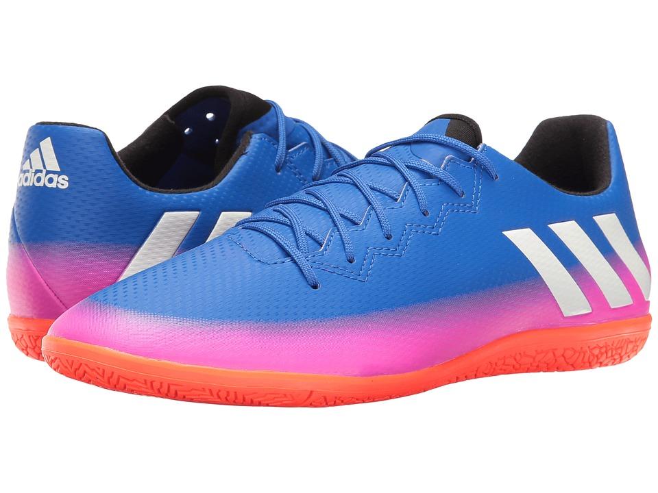 adidas - Messi 16.3 IN (Blue/Footwear White/Solar Orange) Mens Soccer Shoes