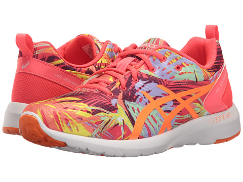 ASICS Kids Bounder 2 GS (Little Kid/Big Kid) - Diva Pink/Hot Orange/Pale Pink