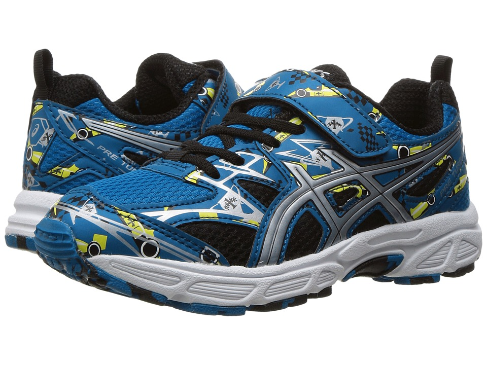 ASICS Kids Pre-Turbo PS (Toddler/Little Kid) (Thunder Blue/Silver/Sun) Boys Shoes