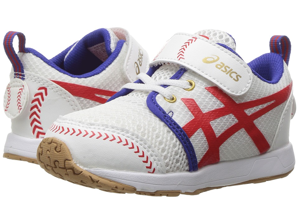 ASICS Kids School Yard TS (Toddler) (Baseball White/Red) Boys Shoes