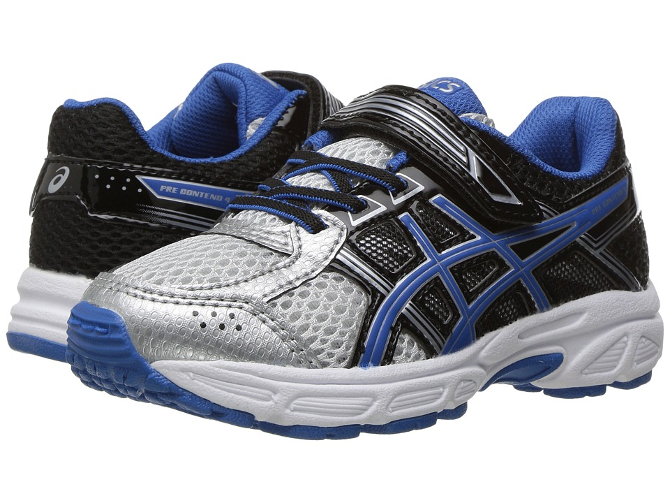 ASICS Kids GEL-Contend 4 PS (Toddler/Little Kid) (Silver/Classic Blue/Black) Boys Shoes