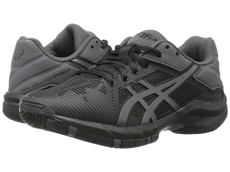 ASICS Kids Gel-Solution Speed 3 GS (Little Kid/Big Kid) (Black/Dark Grey) Boys Shoes