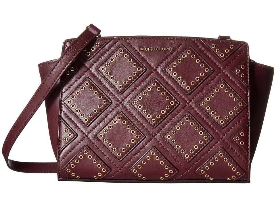 MICHAEL Michael Kors - Diamond Grommet Selma Md Messenger (Plum) Messenger Bags