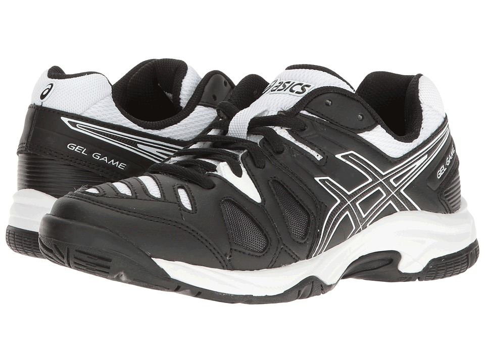 ASICS Kids Gel-Game 5 GS Tennis (Little Kid/Big Kid) (Black/White) Boys Shoes