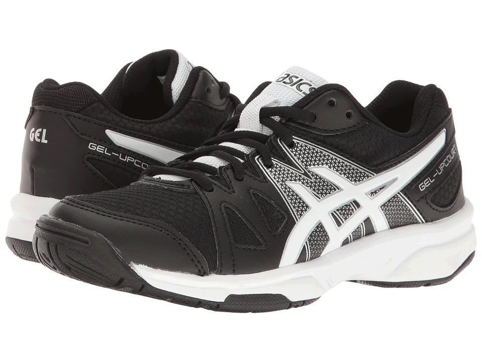 ASICS Kids Gel-Upcourt GS (Little Kid/Big Kid) (Black/White/Silver) Boys Shoes