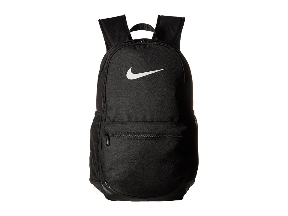 Nike Brasilia Medium Backpack (Black/Black/White) Backpack Bags