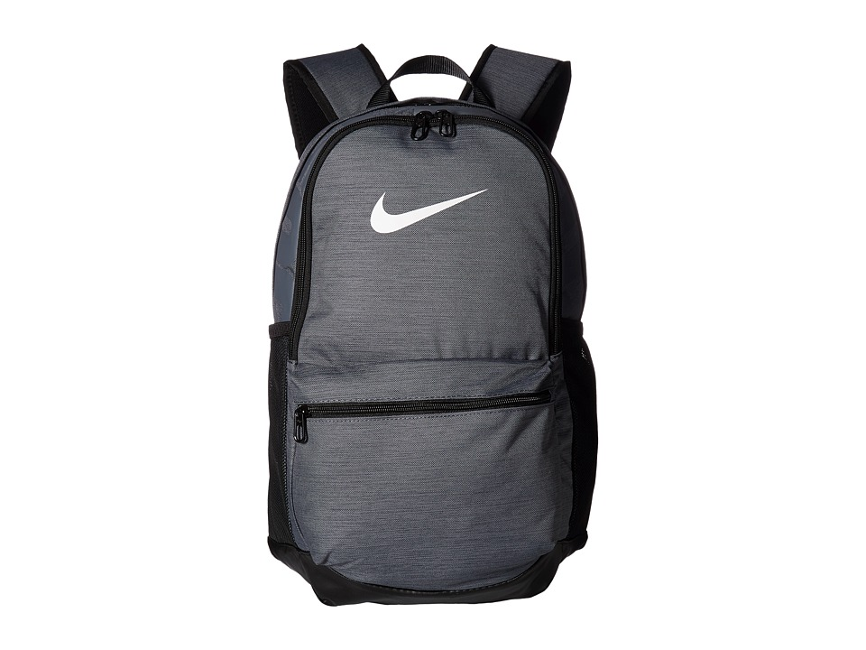 Nike Brasilia Medium Backpack (Flint Grey/Black/White) Backpack Bags