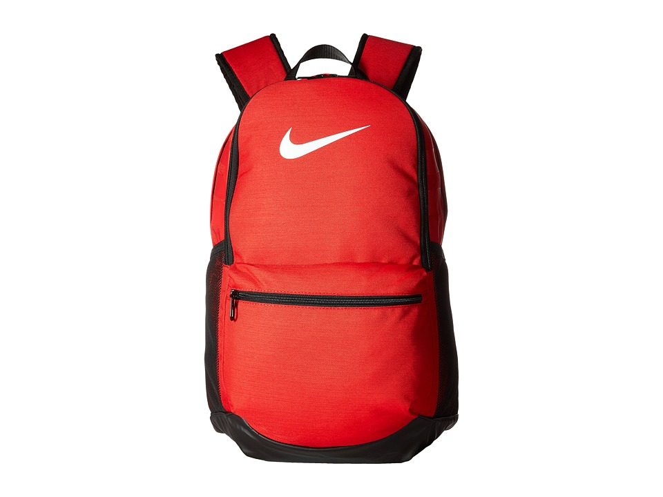 Nike Brasilia Medium Backpack (University Red/Black/White) Backpack Bags