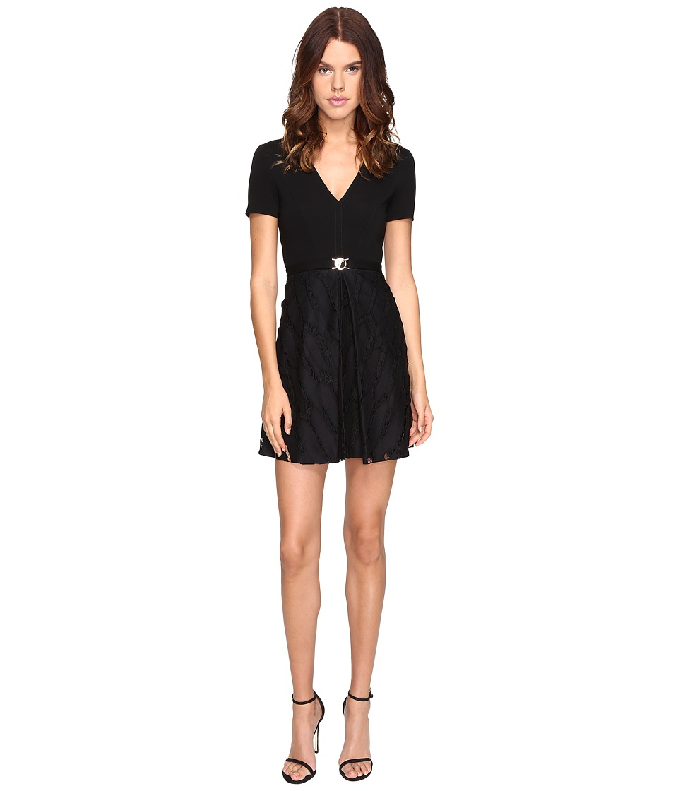 Versace Collection Jersey Dress (Nero) Women