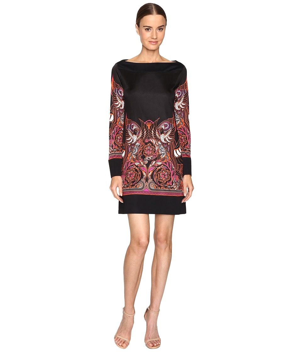 Versace Collection Jersey Dress (Nero/Stampa) Women
