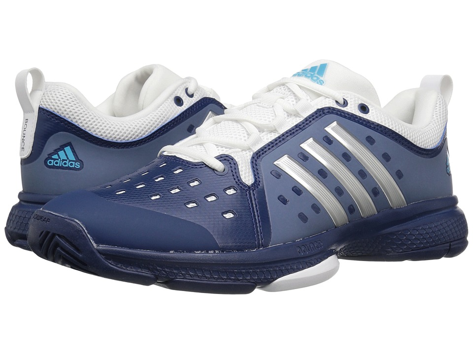 adidas Barricade Classic Bounce (Mystery Blue/Silver Metallic/Footwear White) Men