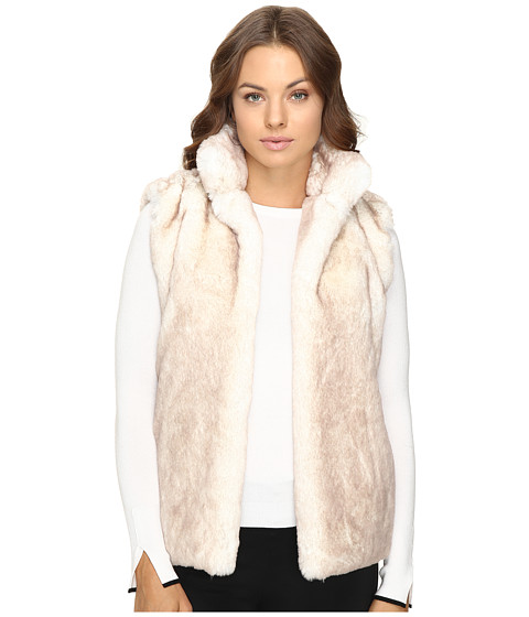 Brigitte Bailey Lulu Faux Fur Vest - White/Tan