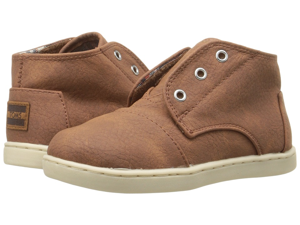 TOMS Kids Paseo Mid (Infant/Toddler/Little Kid) (Brown) Kids Shoes