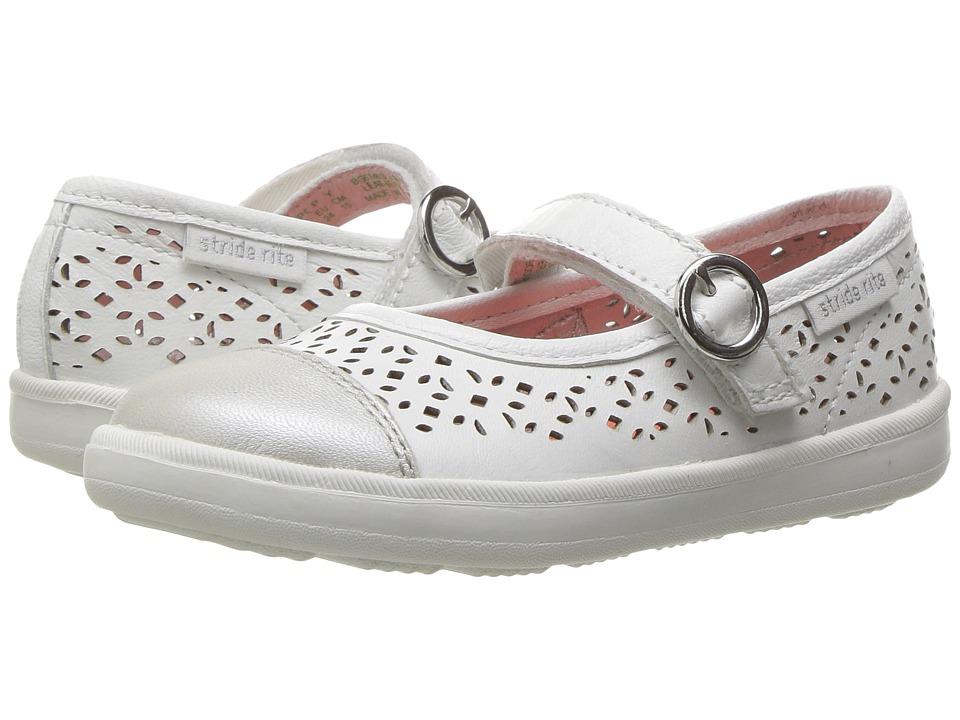 Stride Rite Poppy (Toddler/Little Kid) (White) Girls Shoes
