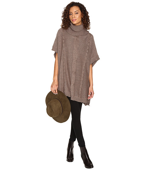 Jack by BB Dakota Keandre Marled Cable-Knit Poncho