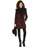Jack by BB Dakota - Elanora Floral Jacquard Coat w/ Sherpa Collar
