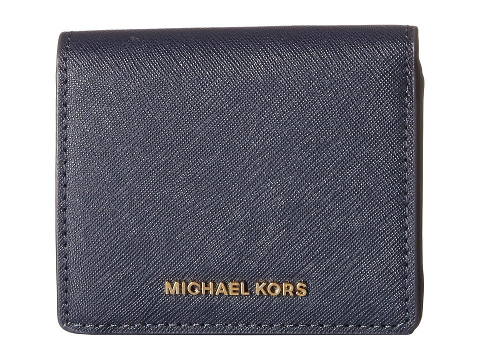 MICHAEL Michael Kors - Jet Set Travel Carryall Card Case (Admiral) Credit card Wallet