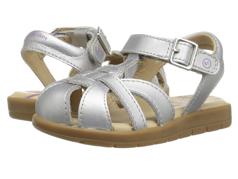 Stride Rite Summer Time (Toddler/Little Kid) (Silver) Girl's Shoes