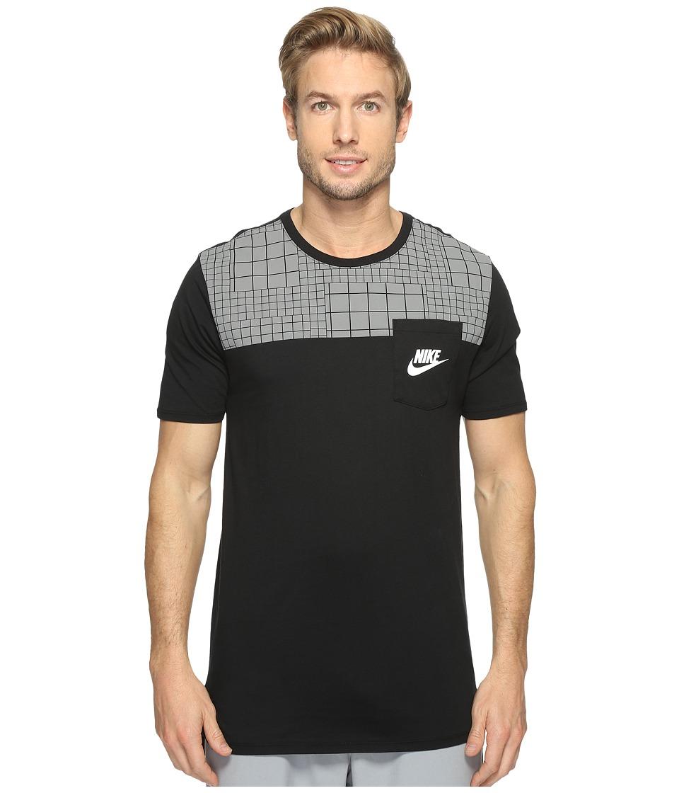 Nike Sportswear Advance 15 T-Shirt (Black/Black/Black/Max Orange) Men