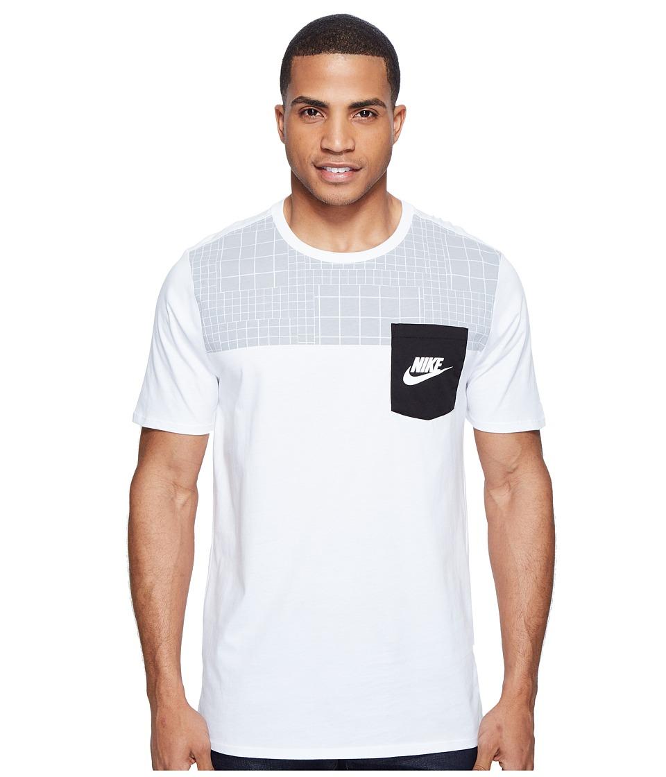 Nike Sportswear Advance 15 T-Shirt (White/Black/White/Wolf Grey) Men