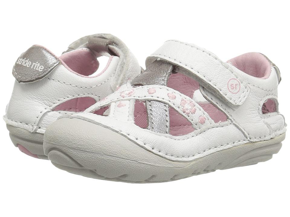 Stride Rite SM Kiki (Infant/Toddler) (White) Girl's Shoes