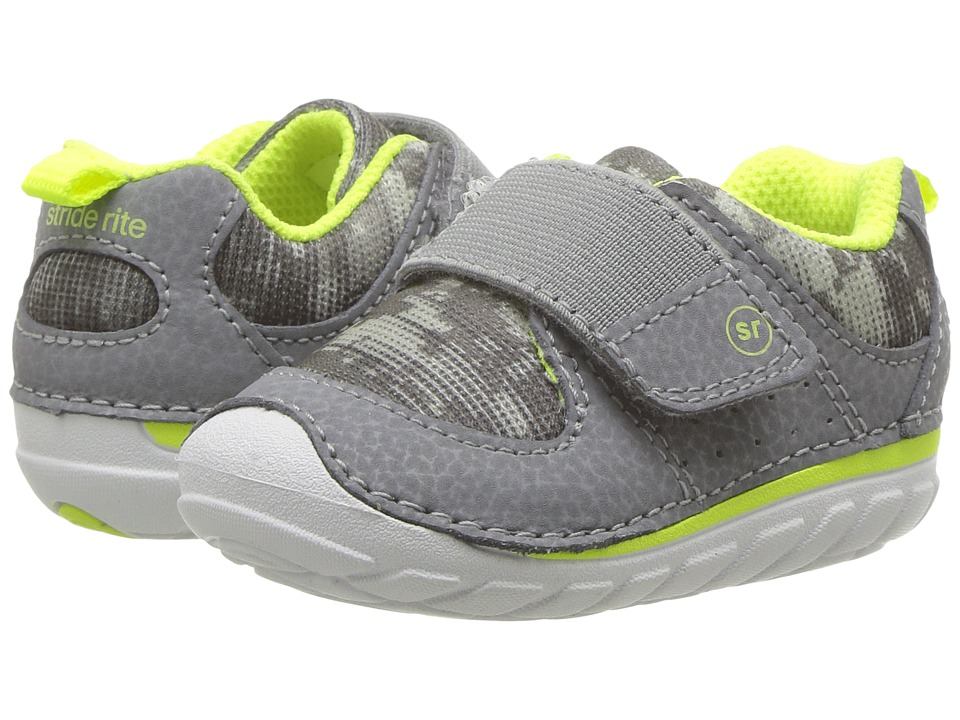 Stride Rite SM Ripley (Infant/Toddler) (Grey) Kid's Shoes