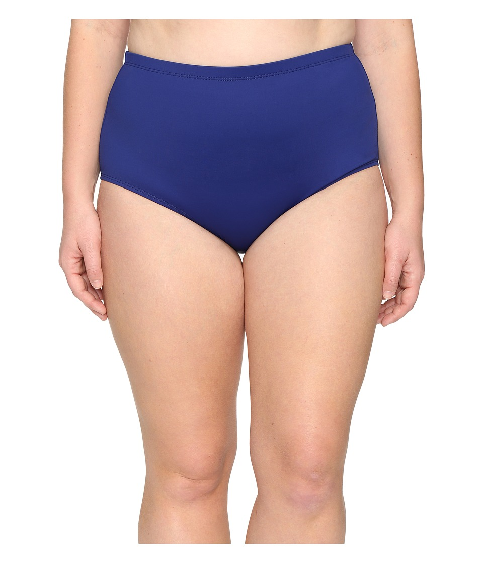 La Blanca - Plus Size Island Goddess Solid Hipster (Midnight) Womens Swimwear