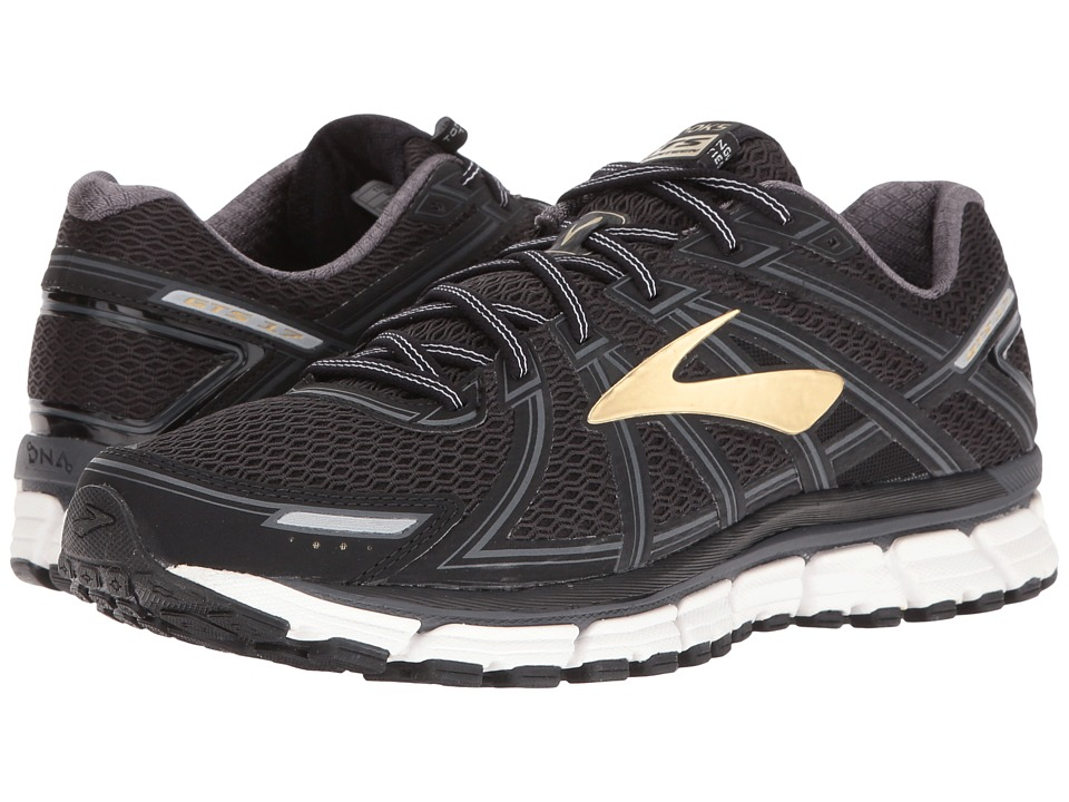 Brooks - Adrenaline GTS 17 (Black/Anthracite/Gold) Mens Running Shoes