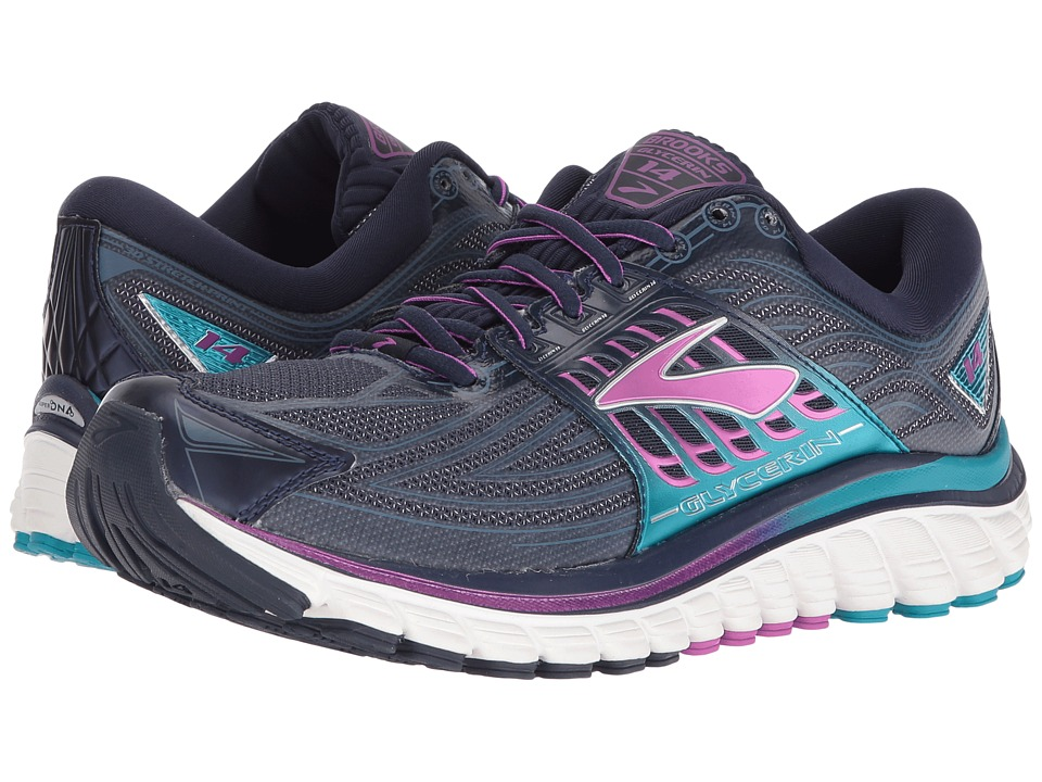 Brooks Glycerin 14 (Peacoat Navy/Purple Cactus Flower/Capri Breeze) Women