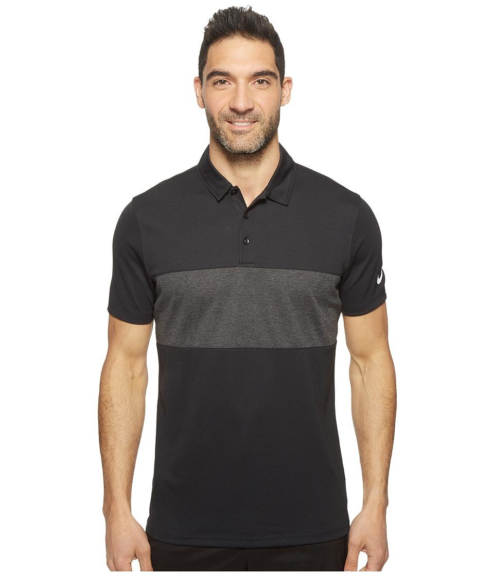 Nike Golf - Breathe Color Block Polo (Black/Black Heather...