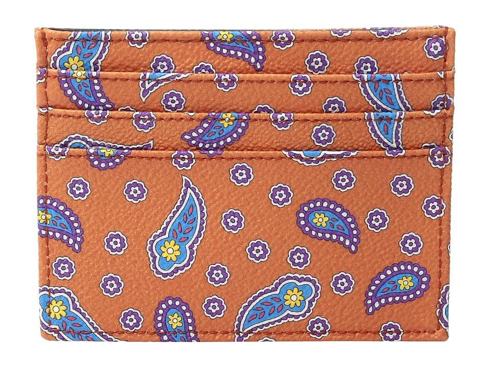 Etro - Floating Paisley Card Case (Orange) Credit card Wallet