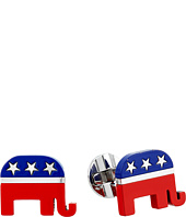 Cufflinks Inc. - Stainless Steel Republican Elephant Cufflinks