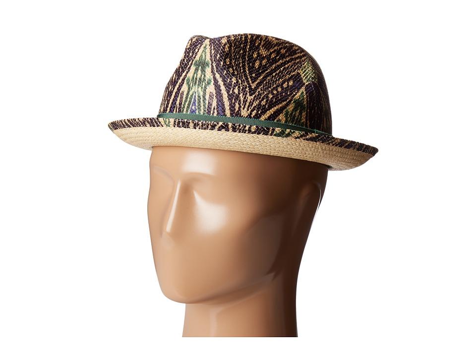 Etro - Printed Panama Hat (Navy) Caps