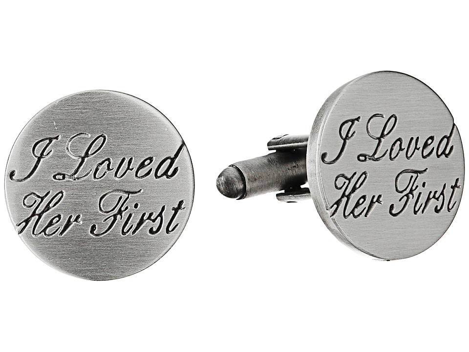 Cufflinks Inc. - Wedding Series I Loved Her First Cufflinks (Silver) Cuff Links