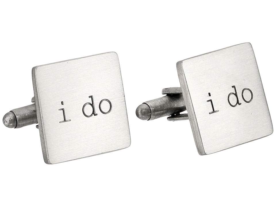 Cufflinks Inc. - Wedding Series I Do Cufflinks (Silver) Cuff Links