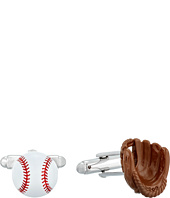 Cufflinks Inc. - 3D Baseball and Gloves Enamel Cufflinks