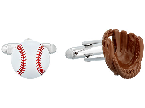 Cufflinks Inc. 3D Baseball and Gloves Enamel Cufflinks