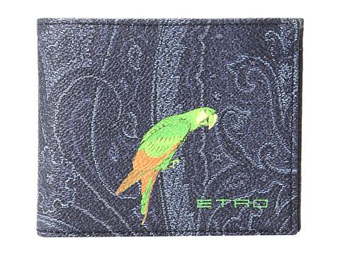 Etro Paisley Billfold - Navy Parrot