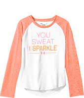 Under Armour Kids - You Sweat I Sparkle Raglan Long Sleeve (Little Kids)